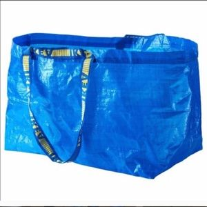 2 IKEA Frakta Large Blue Shopping Bags